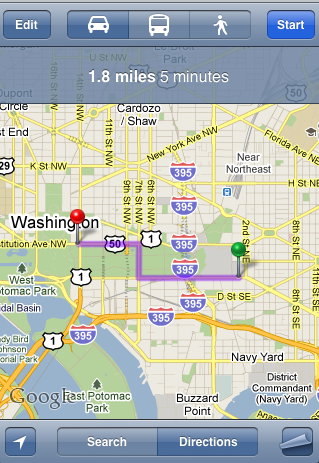 iPhone Map Link Results